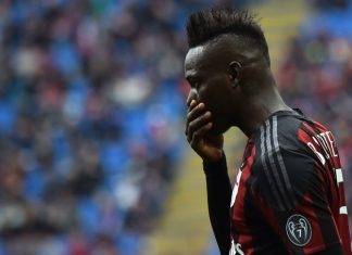 Balotelli during Milan-Frosinone at San Siro on May 1, 2016. (GIUSEPPE CACACE/AFP/Getty Images)
