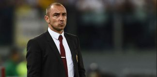 Brocchi during the Italian Tim Cup final Juventus-Milan on May 21, 2016 at Stadio Olimpico. (FILIPPO MONTEFORTE/AFP/Getty Images)