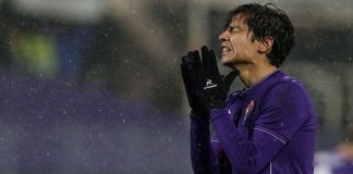 Matias Fernandez of Fiorentina shows his dejection during the Serie A match between ACF Fiorentina and Carpi FC at Stadio Artemio Franchi on February 3, 2016 in Florence, Italy. (Photo by Maurizio Lagana/Getty Images)