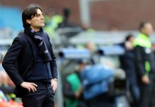 Vincenzo Montella manager of UC Sampdoria looks on during the Serie A match between UC Sampdoria and AC Chievo Verona at Stadio Luigi Ferraris on March 20, 2016 in Genoa, Italy. (Photo by Gabriele Maltinti/Getty Images)