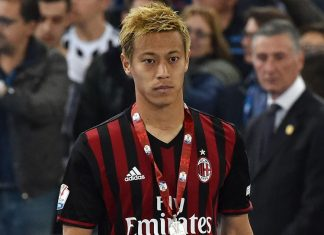 Keisuke Honda of AC Milan after the TIM Cup match between AC Milan and Juventus FC at Stadio Olimpico on May 21, 2016 in Rome, Italy. (Photo by Giuseppe Bellini/Getty Images)