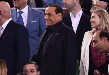 Silvio Berlusconi, Adriano Galliani and Barbara Berlusconi