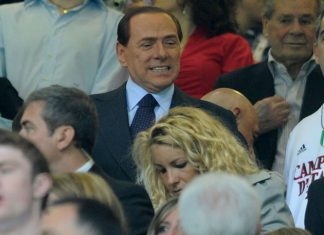 Berlusconi during Milan-Cagliari at Stadio San Siro on the 14th of May 2011. (Photo by Dino Panato/Getty Images)
