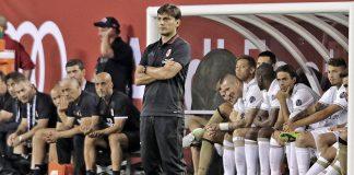 Montella during the match (@acmilan.com)