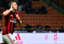 Menez celebrates after scoring during Milan-Parma at San Siro Stadium in Milan on February 1, 2015. (GIUSEPPE CACACE/AFP/Getty Images)