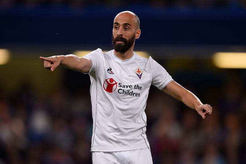 Borja Valero of Fiorentina points during a Pre Season Friendly between Chelsea and Fiorentina at Stamford Bridge on August 5, 2015 in London, England. (Photo by Mike Hewitt/Getty Images)
