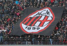 The AC Milan fans before the Serie A match between AC Milan and Bologna FC at Stadio Giuseppe Meazza on January 6, 2016 in Milan, Italy. (Photo by Marco Luzzani/Getty Images)