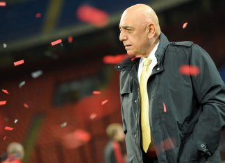 Galliani after the Milan-Palermo Primavera TIM Cup final at Stadio San Siro on the 14th of April 2010. (Photo by Tullio M. Puglia/Getty Images)