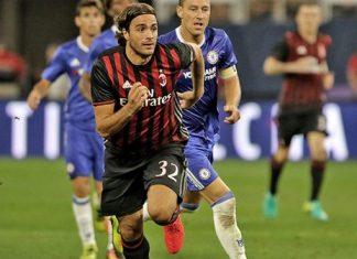 Alessandro Matri in action against Chelsea during pre-season (@acmilan.com)