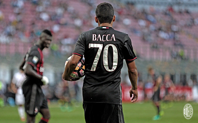 Carlos Bacca during Milan-Torino on the 21st of August 2016 at Stadio San Siro (@acmilan.com)