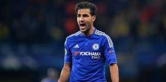 Fabregas during the UEFA Champions League, match between Chelsea and Maccabi Tel Aviv at Stamford Bridge on September 16, 2015. (GLYN KIRK/AFP/Getty Images)