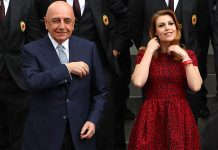 Galliani and General Manager of AC Milan Barbara Berlusconi attends the inauguration of AC Milan's new purpose-built headquarters, Casa Milan on May 19, 2014 in Milan, Italy. (Photo by Marco Luzzani/Getty Images)