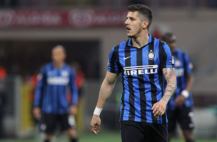 Jovetic during Inter-Udinese at Stadio Giuseppe Meazza on April 23, 2016. (Photo by Marco Luzzani/Getty Images)