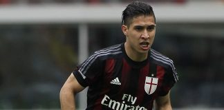 Jose Mauri of AC Milan in action during the Serie A match between AC Milan and Frosinone Calcio at Stadio Giuseppe Meazza on May 1, 2016 in Milan, Italy. (Photo by Marco Luzzani/Getty Images)