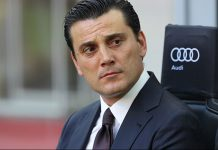 AC Milan coach Vincenzo Montella looks on before the Serie A match between AC Milan and FC Torino at Stadio Giuseppe Meazza on August 21, 2016 in Milan, Italy. (Photo by Marco Luzzani/Getty Images)