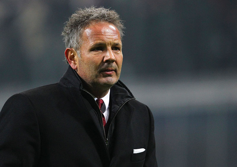 Sinisa Mihajlovic looks on at the end of the TIM Cup match between AC Milan and FC Crotone at Stadio Giuseppe Meazza on December 1, 2015 in Milan, Italy. (Photo by Marco Luzzani/Getty Images)