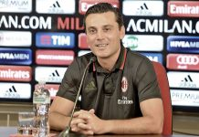 Vincenzo Montella during today's press conference (@acmilan.com)