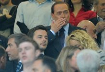 Silvio Berlusconi looks on during the Serie A match between AC Milan and Cagliari Calcio at Stadio Giuseppe Meazza on May 14, 2011 in Milan, Italy. (Photo by Dino Panato/Getty Images)