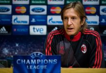 Massimo Ambrosini of AC Milan faces the media during a press conference ahead of their UEFA Champions League round of 16 second leg against FC Barcelona at the Camp Nou Stadium on March 11, 2013 in Barcelona, Spain. (Photo by David Ramos/Getty Images)