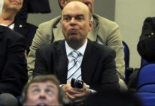 Fassone during the Coppa Italia Inter-Roma match at Stadio San Siro on April 17, 2013. (Photo by Claudio Villa/Getty Images)
