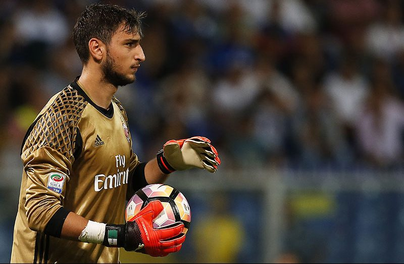 Donnarumma during Sampdoria-Milan at Stadio Luigi Ferraris on September 16, 2016 (MARCO BERTORELLO/AFP/Getty Images)