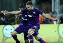 Milan Badelj of ACF Fiorentina celebrates after scoring a goal during the Serie A match between ACF Fiorentina and AS Roma at Stadio Artemio Franchi on September 18, 2016 in Florence, Italy. (Photo by Gabriele Maltinti/Getty Images)