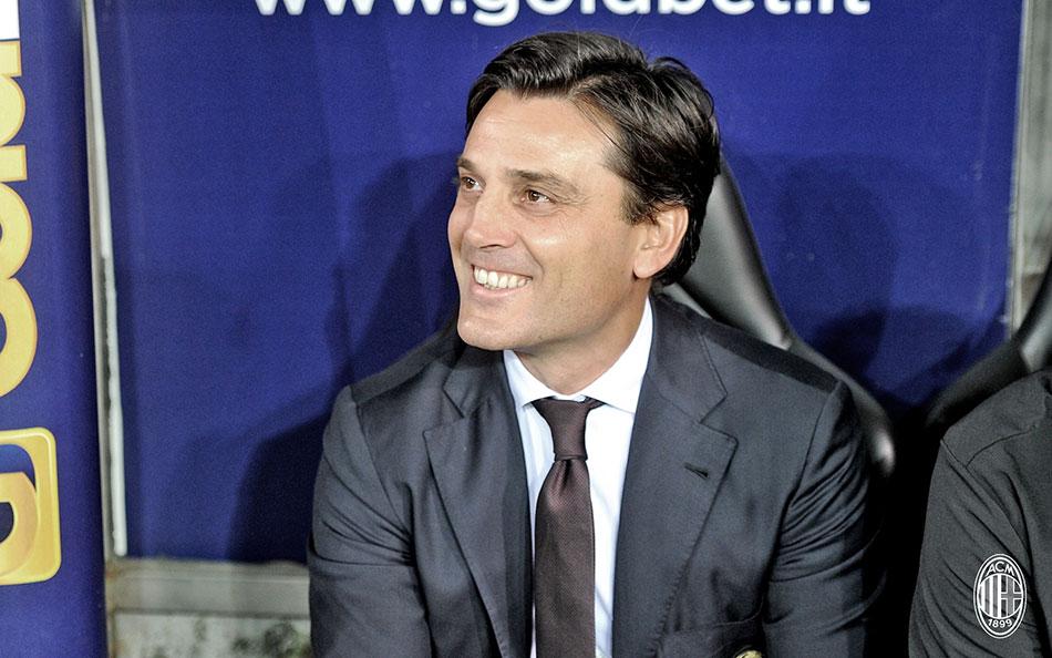 Montella during the match against Sampdoria on the 16th of September 2016 at Stadio Luigi Ferraris (@acmilan.com)