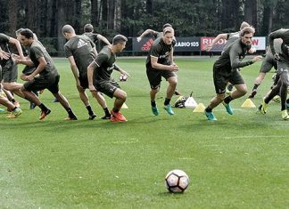 The squad in training (@acmilan.com)