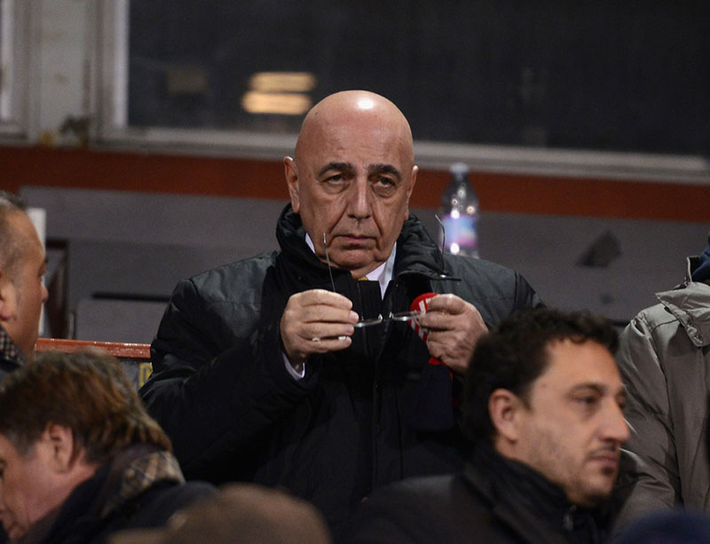 Galliani before Udinese-Milan at Stadio Friuli on the 22nd of September 2015. (Photo by Dino Panato/Getty Images)