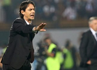 Filippo Inzaghi gestures during his friendly football match against Real Madrid on December 30, 2014 at the Sevens Stadium in Dubai. AFP PHOTO / MARWAN NAAMANI (Photo credit should read MARWAN NAAMANI/AFP/Getty Images)