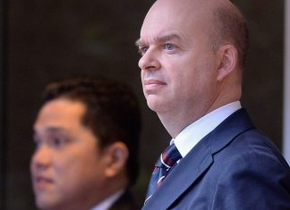 Marco Fassone during Inter-Catania at Stadio San Siro on the 26th of January 2014. (Photo by Claudio Villa/Getty Images)