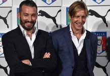 Ambrosini and Zambrotta at Palazzo Vecchio on November 9, 2015 in Florence, Italy. (Photo by Valerio Pennicino/Getty Images)