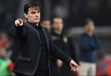 Montella during Genoa-Milan at Stadio Luigi Ferraris on the 25th of October 2016 (GIUSEPPE CACACE/AFP/Getty Images)
