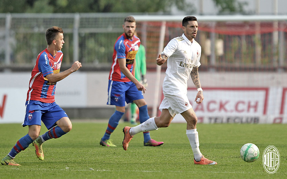 Jose Sosa during Chiasso-Milan FC Chiasso at Stadio comunale Riva IV on the 8th of October 2016 (@acmilan.com)