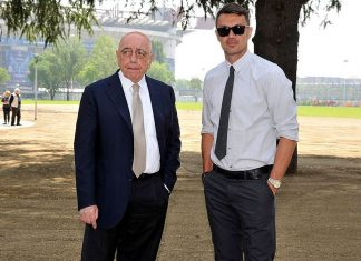 Adriano Galliani and Paolo Maldini (@acmilan.com)