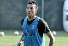 Leonel Vangioni during training at Milanello (@acmilan.com)