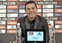 Montella during the press conference at Milanello (@acmilan.com)