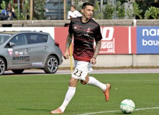 Jose Sosa before FC Chiasso-Milan at Stadio comunale Riva IV on the 8th of October 2016 (@acmilan.com)