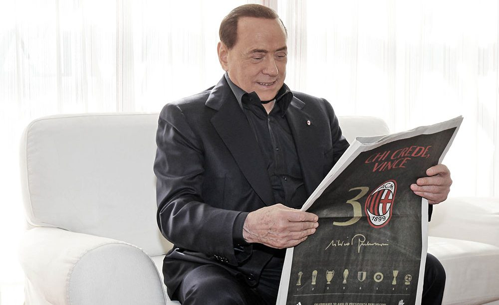 Silvio Berlusconi at Milanello (@acmilan.com)