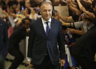 Alberto Zaccheroni is seen upon arrival back from the World Cup 2014 Brazil at Narita International Airport on June 27, 2014 in Narita, Japan. (Photo by Chris McGrath/Getty Images)