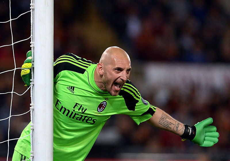 Abbiati during Roma-Milan on at Stadio Olimpico on the 25th of April 2014 (ALBERTO PIZZOLI/AFP/Getty Images)