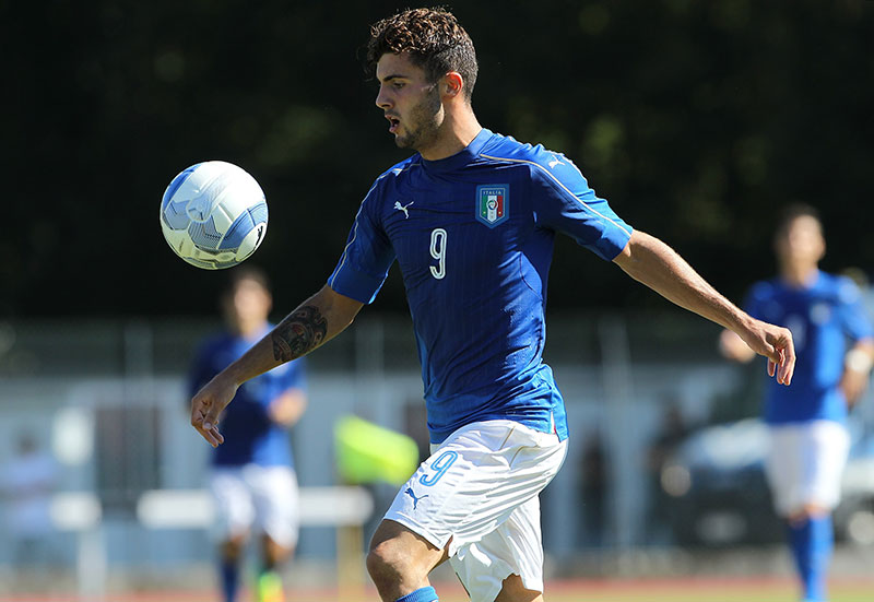 Patrick Cutrone during Italy U19-Turkey U19 on the 6th of September 2016 (Photo by Marco Luzzani/Getty Images)