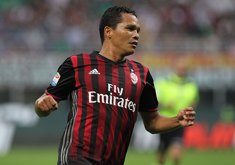 Bacca during Milan-Sassuolo at Stadio San Siro on the 2nd of October 2016. (Photo by Marco Luzzani/Getty Images)