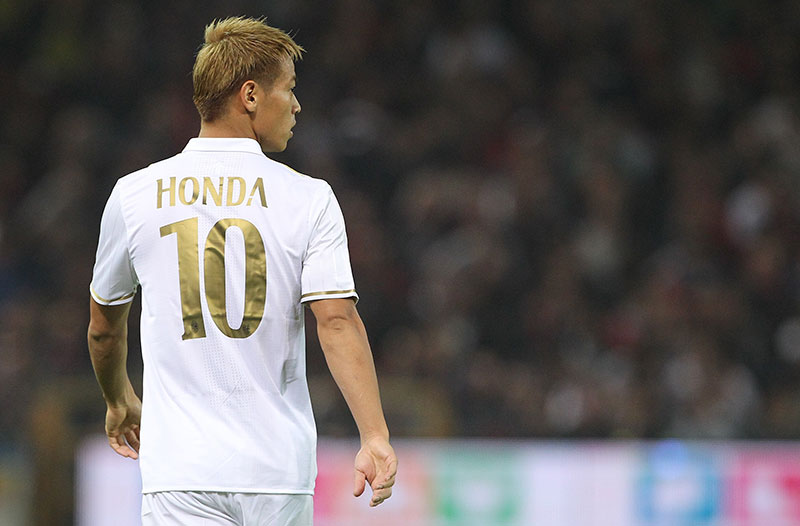 Honda during Genoa-Milan at Stadio Luigi Ferraris on the 25th of October 2016. (Photo by Marco Luzzani/Getty Images)
