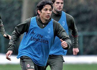 Mati Fernandez during training at Milanello (@acmilan.com)