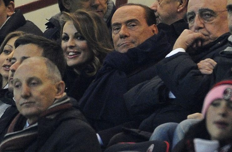 Berlusconi during the Milan-Zenit Champions League match at Stadio San Siro on the 4th of December 2012 (Photo by Claudio Villa/Getty Images)