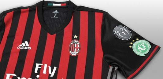 The special kit dedicated to Chapecoense that will be worn against Crotone on the 4th of December 2016 (@acmilan.com)