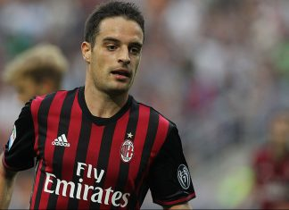 Bonaventura during Milan-Sassuolo at Stadio San Siro on the 2nd of October 2016 (Photo by Marco Luzzani/Getty Images)