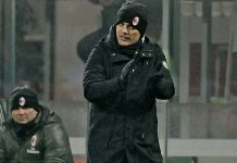 Vincenzo Montella during Milan-Torino at Stadio San Siro on the 12th of January 2017. (@acmilan.com)