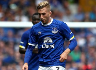 Gerard Deulofeu during Everton-Espanyol at Goodison Park on the 6th of August 2016. (Photo by Jan Kruger/Getty Images)